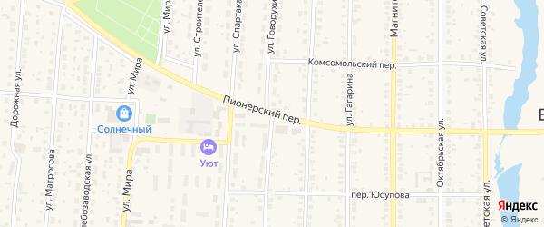 Пионерский переулок на карте села Варны с номерами домов