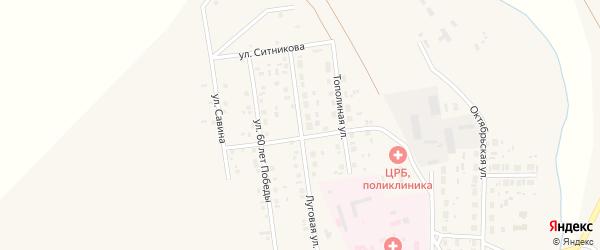 Луговая улица на карте села Варны с номерами домов