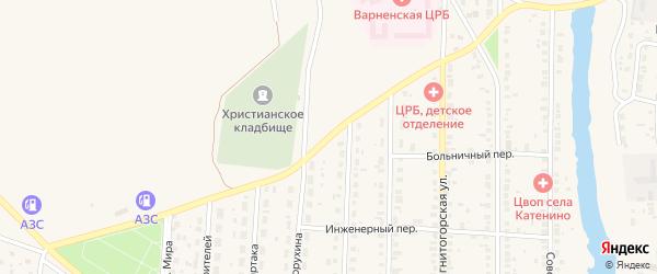 Улица Мира на карте села Варны с номерами домов