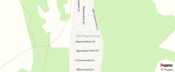 Улица Земляничная (мкр Чистые росы) на карте села Большие Харлуши с номерами домов