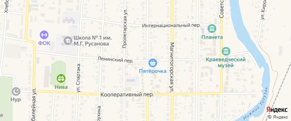 Ленинский переулок на карте села Варны с номерами домов