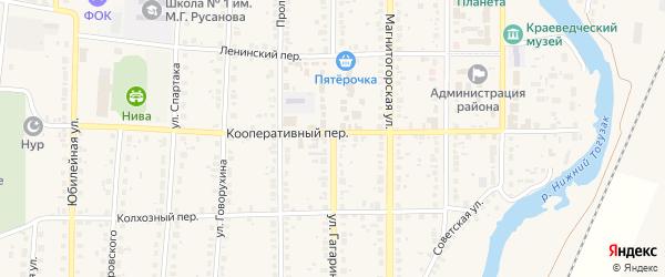 Улица Гагарина на карте села Варны с номерами домов