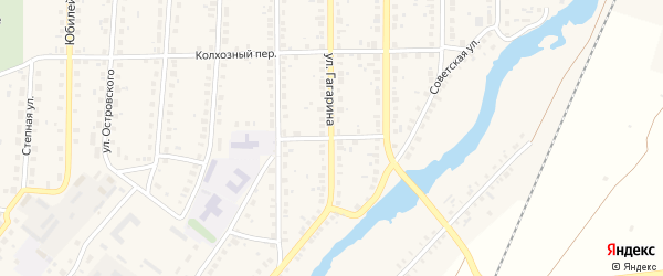 Школьный переулок на карте села Варны с номерами домов