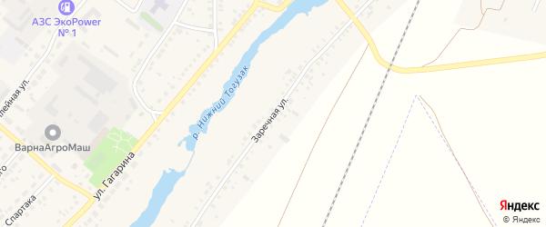 Заречная улица на карте села Варны с номерами домов