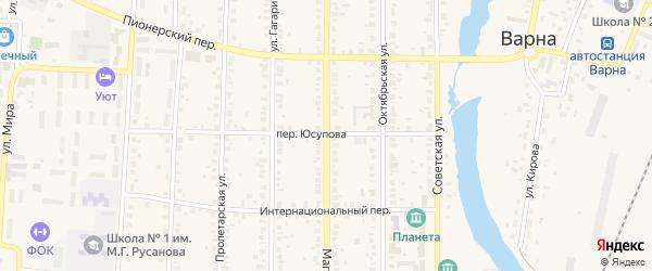 Магнитогорская улица на карте села Варны с номерами домов