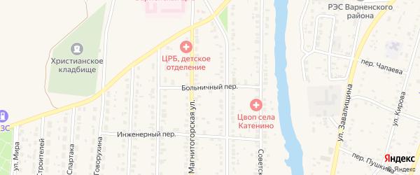 Больничный переулок на карте села Варны с номерами домов