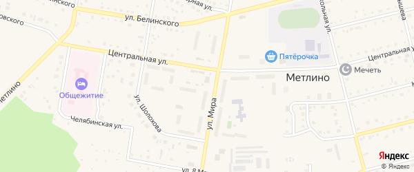 Улица Федорова на карте поселка Метлино с номерами домов