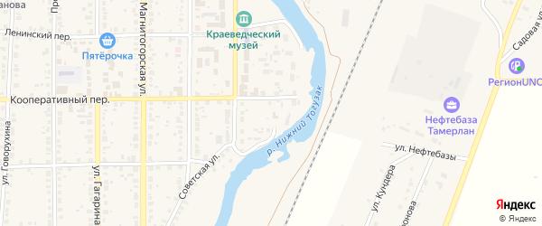 Набережная 1-я улица на карте села Варны с номерами домов