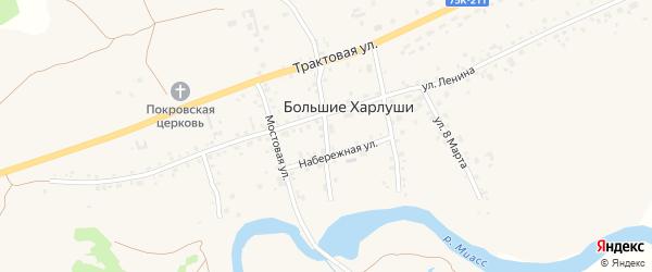 1 Мая улица на карте села Большие Харлуши с номерами домов