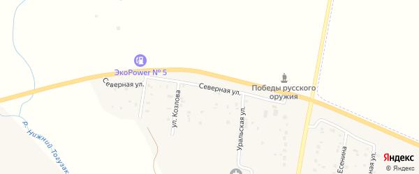 Северная улица на карте села Варны с номерами домов