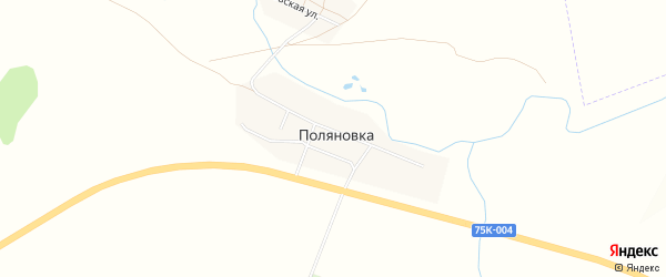 Карта села Поляновки в Челябинской области с улицами и номерами домов