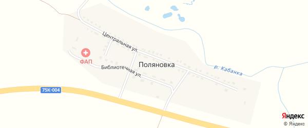 Захаровская улица на карте села Поляновки с номерами домов
