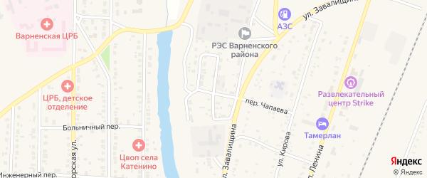 2-я Набережная улица на карте села Варны с номерами домов
