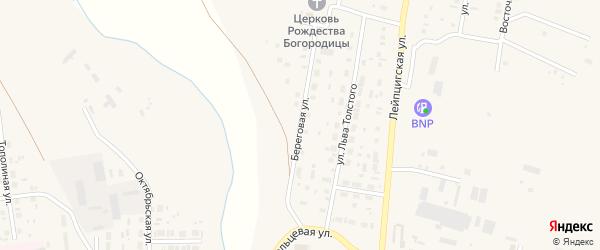 Береговая улица на карте села Варны с номерами домов