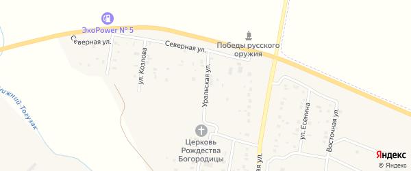 Уральская улица на карте села Варны с номерами домов