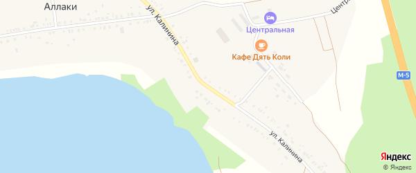 Улица Калинина на карте деревни Аллаки с номерами домов