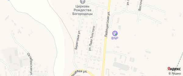 Улица Льва Толстого на карте села Варны с номерами домов