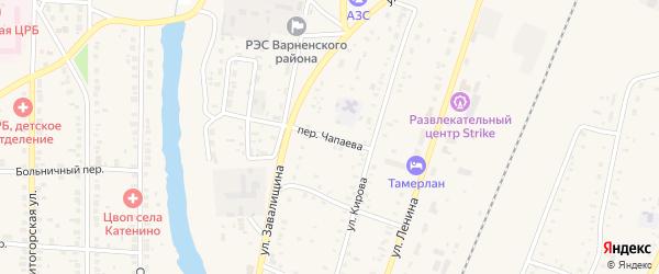 Переулок Чапаева на карте села Варны с номерами домов