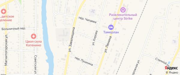 Дорожный переулок на карте села Варны с номерами домов