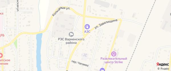 Улица Завалищина на карте села Варны с номерами домов