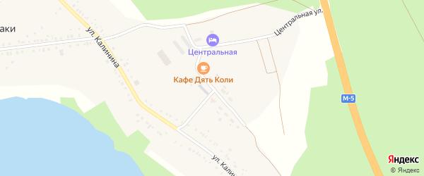 Октябрьская улица на карте деревни Аллаки с номерами домов