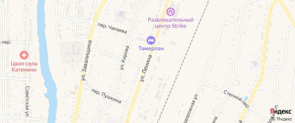 Улица Ленина на карте села Варны с номерами домов