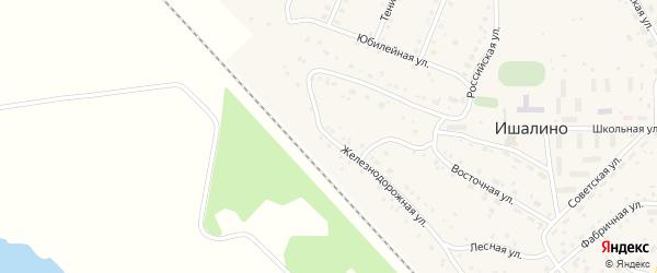 Лесная улица на карте поселка Ишалино с номерами домов