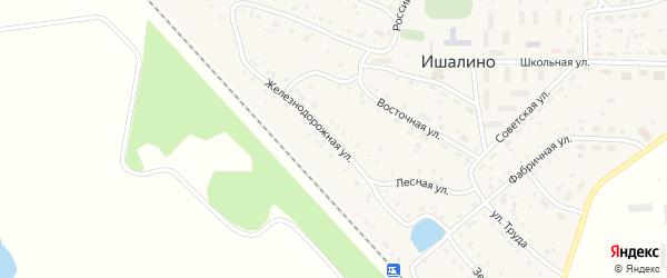Железнодорожная улица на карте поселка Ишалино с номерами домов