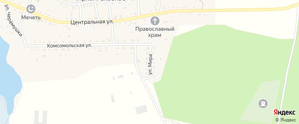 Улица Мира на карте Архангельского села с номерами домов