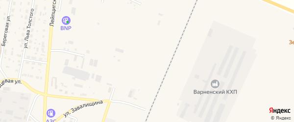Восточная улица на карте села Варны с номерами домов