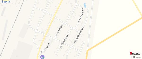 Улица Новоселов на карте села Варны с номерами домов