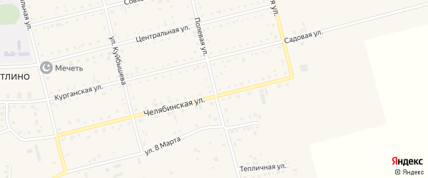 Полевая улица на карте поселка Метлино с номерами домов
