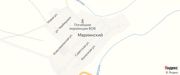Советская улица на карте Мариинского поселка с номерами домов