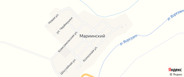 Улица Черемушки на карте Мариинского поселка с номерами домов