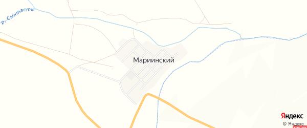 Карта Мариинского поселка в Челябинской области с улицами и номерами домов