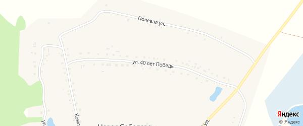 Улица 40 лет Победы на карте деревни Новая Соболева с номерами домов