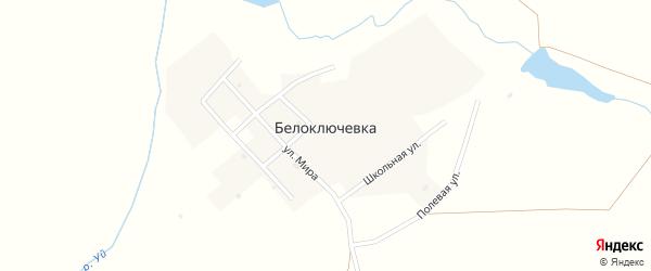 Улица Мира на карте поселка Белоключевки с номерами домов