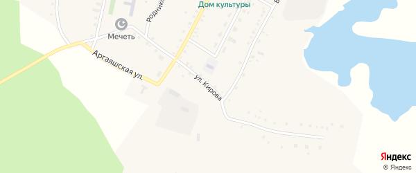 Улица Кирова на карте деревни Новая Соболева с номерами домов