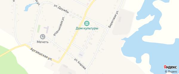 Молодежная улица на карте деревни Новая Соболева с номерами домов