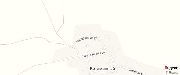 Набережная улица на карте Витаминного поселка с номерами домов