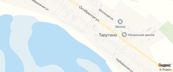Набережная улица на карте села Тарутино с номерами домов