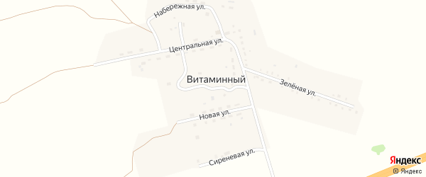 Школьная улица на карте Витаминного поселка с номерами домов