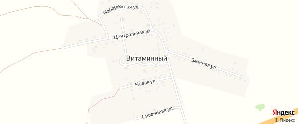 Сиреневая улица на карте Витаминного поселка с номерами домов