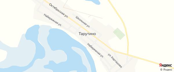 Карта села Тарутино в Челябинской области с улицами и номерами домов
