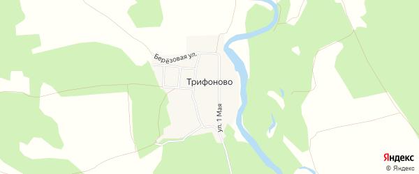 Карта деревни Трифоново в Челябинской области с улицами и номерами домов