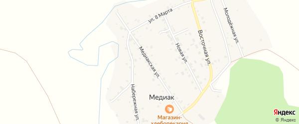 Медиакская улица на карте деревни Медиака с номерами домов