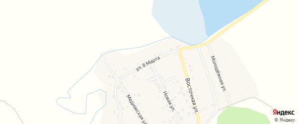 Улица 8 Марта на карте деревни Медиака с номерами домов