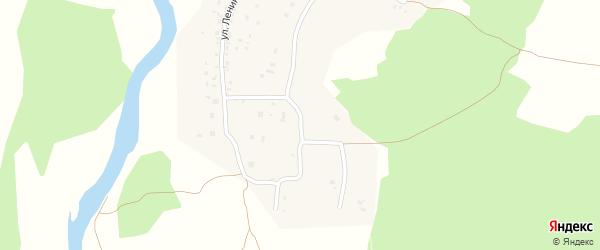 Центральная улица на карте деревни Костыли с номерами домов
