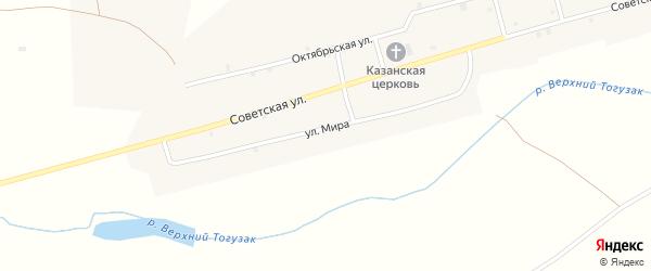 Улица Мира на карте села Лейпцига с номерами домов