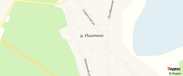 Улица Хасанова на карте деревни Ишалина с номерами домов